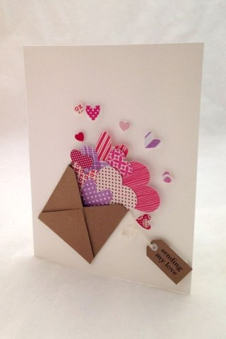 Envelope of Hearts Card
