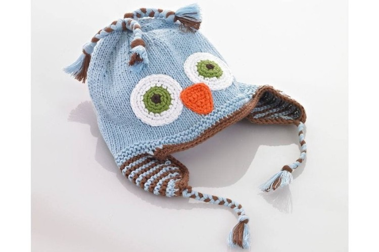 Organic Cotton Owl Hat