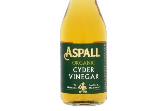 bottle of Aspall vinegar