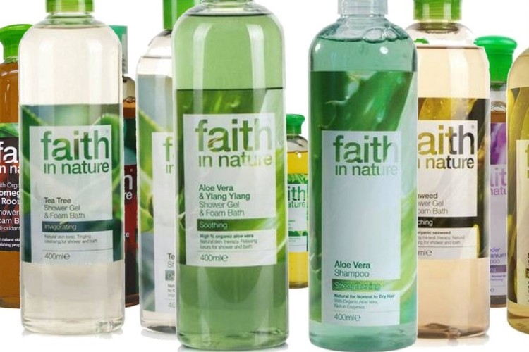 bottles of faith in nature shampoo
