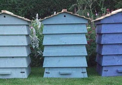 Timber Beehive Composter_blue