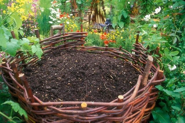 Wicker Compost Bin