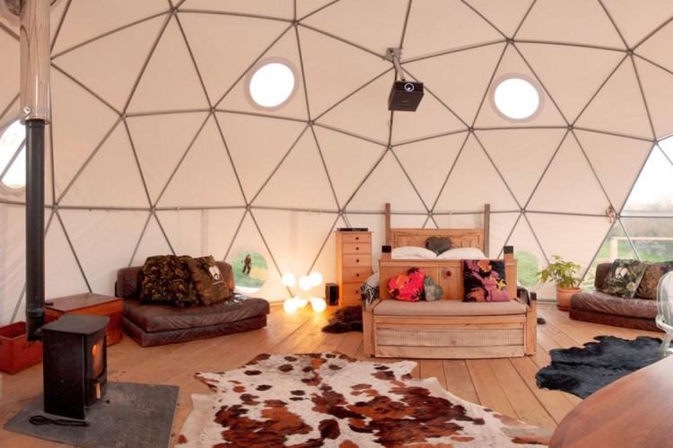 geodesic dome on eco farm