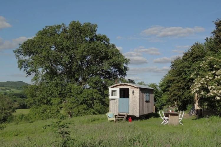 Little hut in a meadow