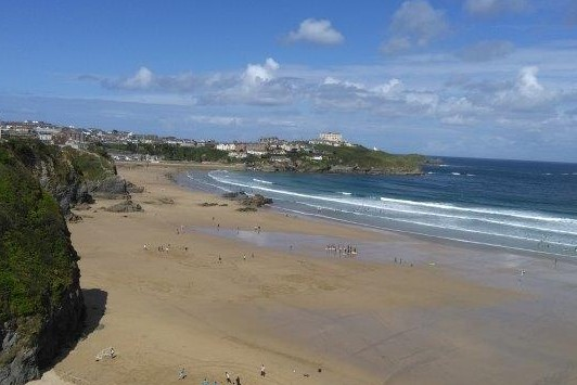 Newquay Beach in Cornwall
