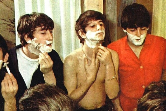 The band the beatles shaving