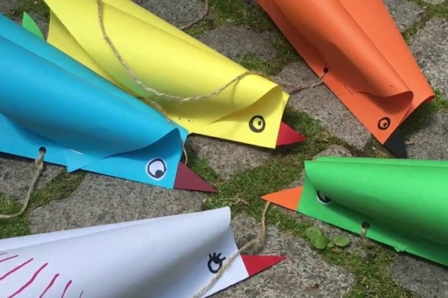 colourful paper kites