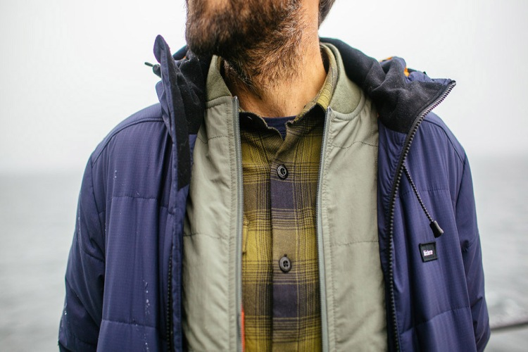 Plaid Shirt and Jacket worn by bearded man