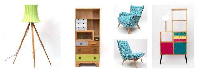 selection of upcycled furniture