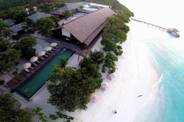 tropical resort on beach