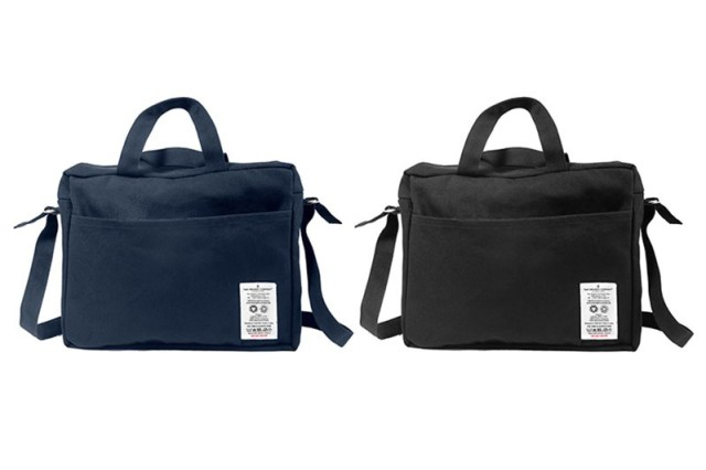 two canvas backpacks