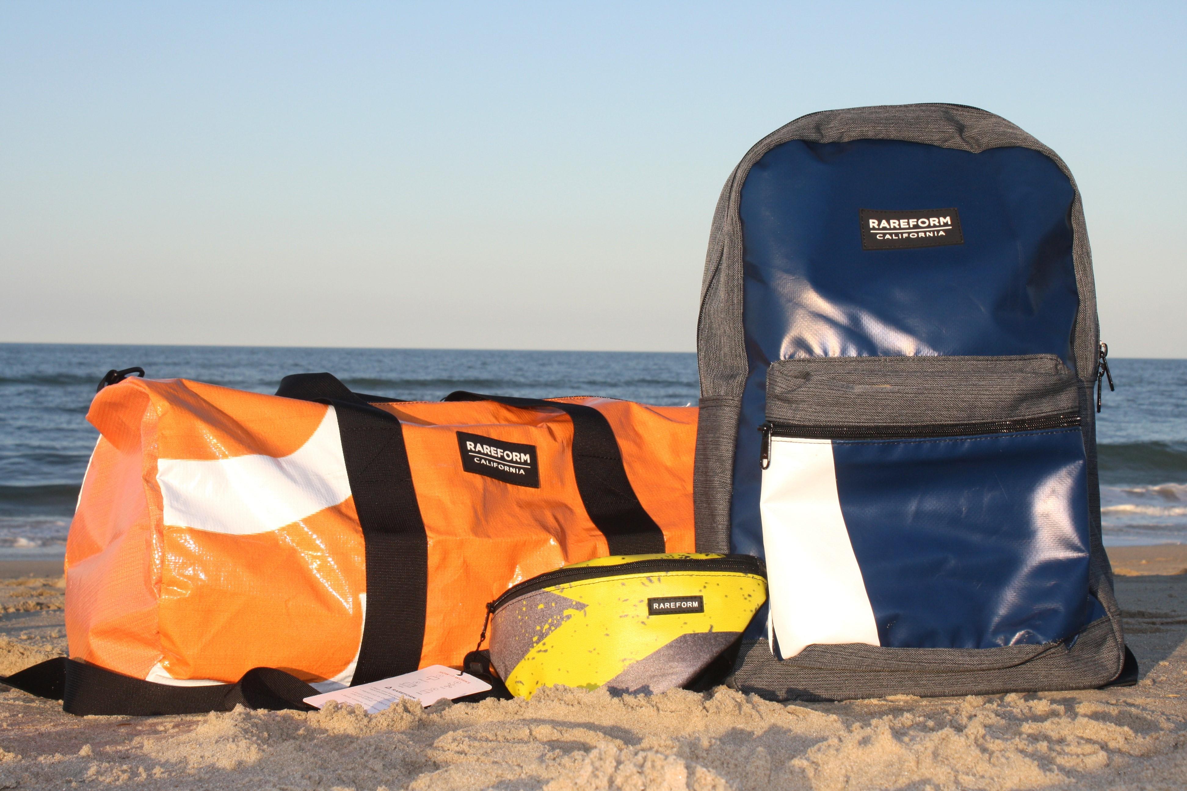 bag on beach