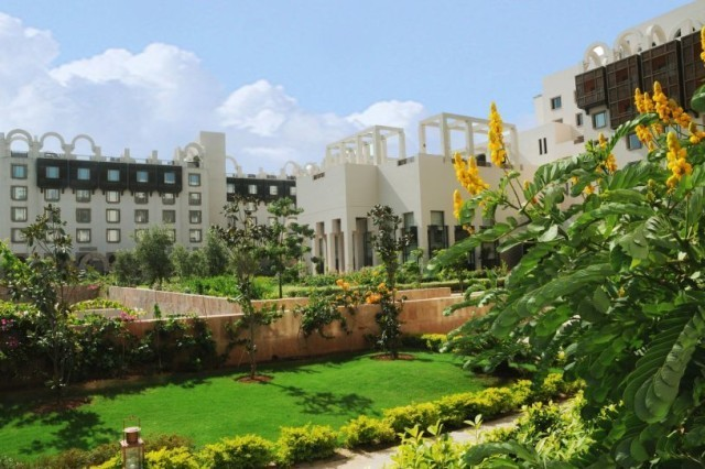 hotel in lush gardens