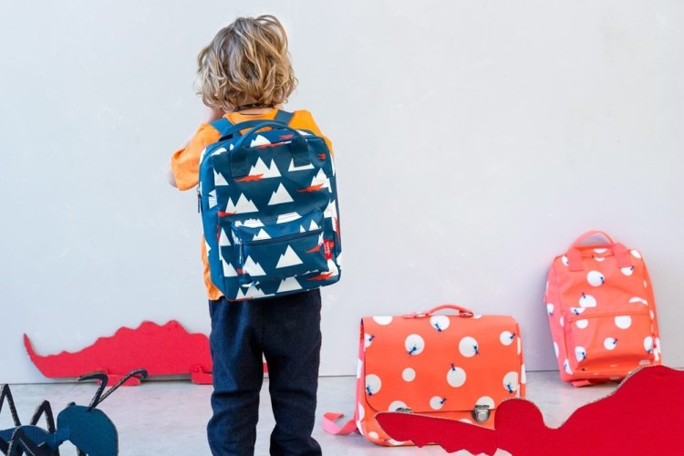 school bag made from recycled bottles