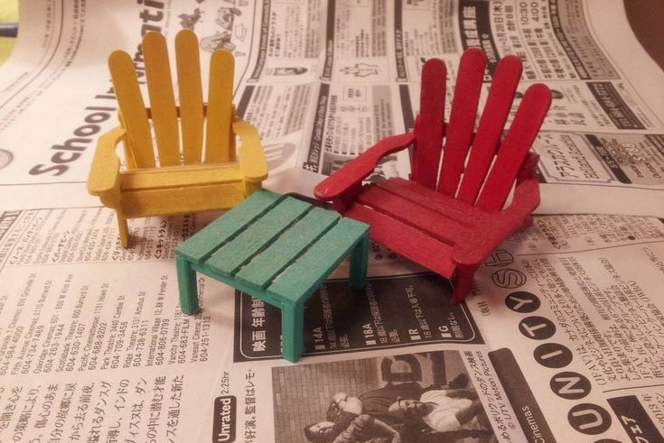 Ice Lolly Fairy Furniture
