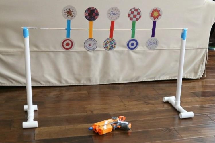 Spinning Toy Gun Target