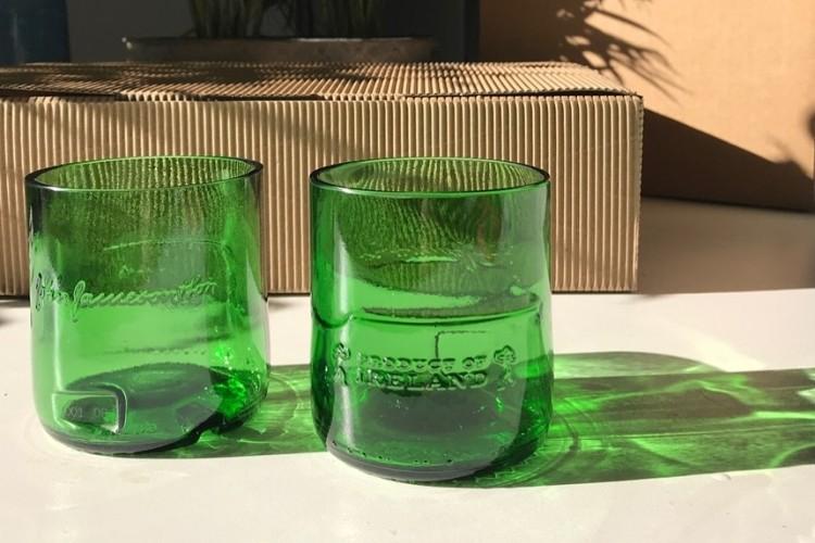 Glasses made from bottles