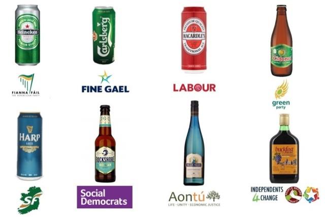 Political Parties as Beer Brands