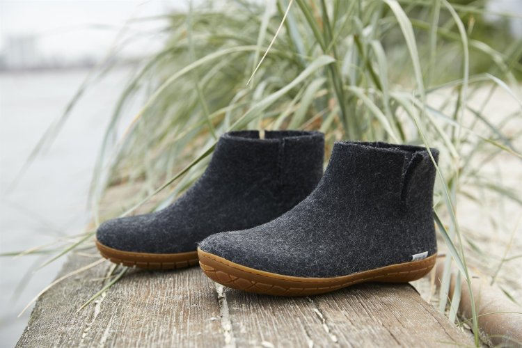 ethical boiled wool slipper