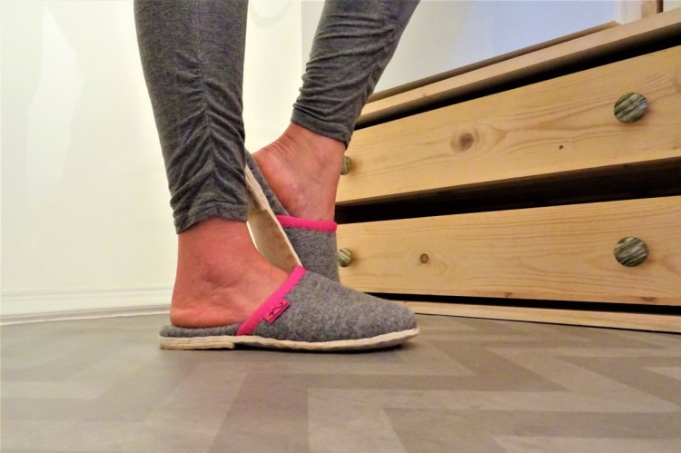 Austrian style wool slippers