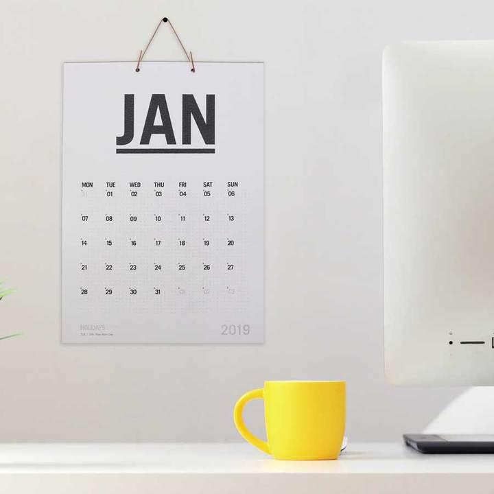 minimalist Irish 2021 Calendar