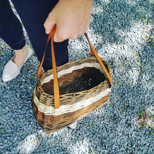 Irish wicker handbag